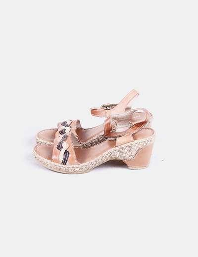 Sandalias marrones con tacón Porronet