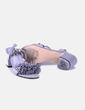 Sandalia de ante gris con flecos Lefties