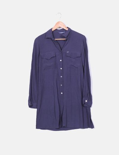 Blusa larga azul marino  Salsa Jeans