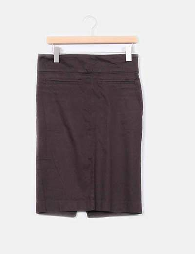 Falda tubo marrón Zara