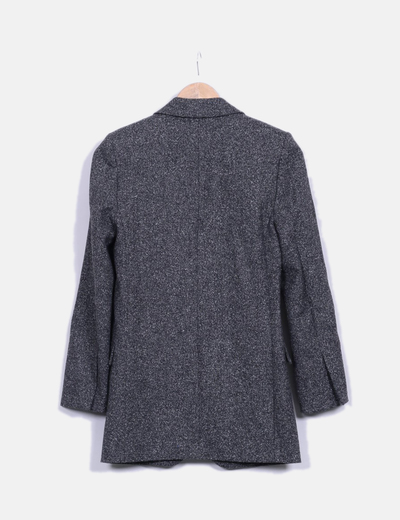 Blazer gris jaspeada de lana