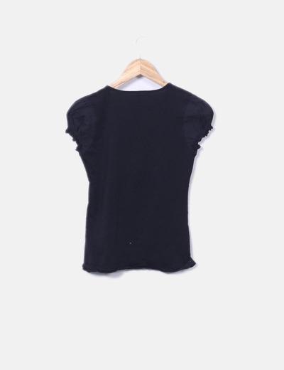 Camiseta negra moschino