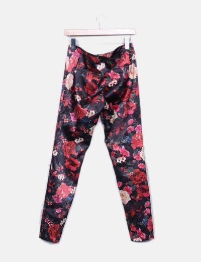 Pantalon satinado floral