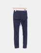 Pantalón elástico azul marino Bershka
