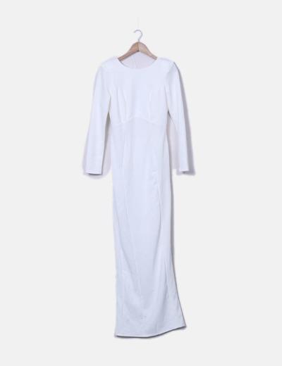 Maxi vestido blanco espalda cruzada