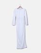 Maxi vestido blanco espalda cruzada Asos