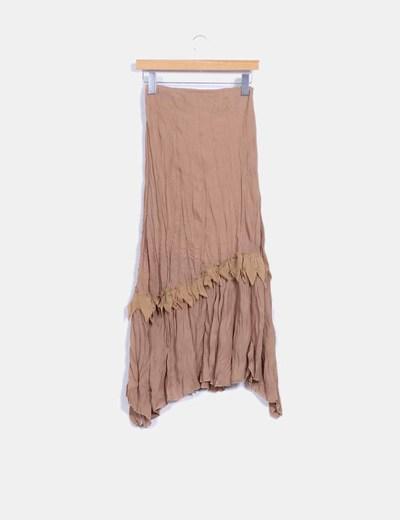 Maxi falda camel