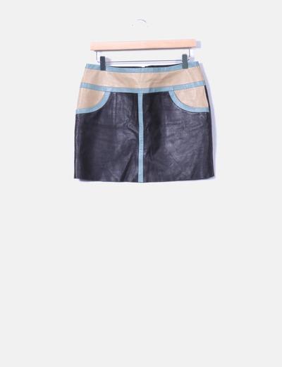 Mini-jupe deux couleurs peau Hoss Intropia