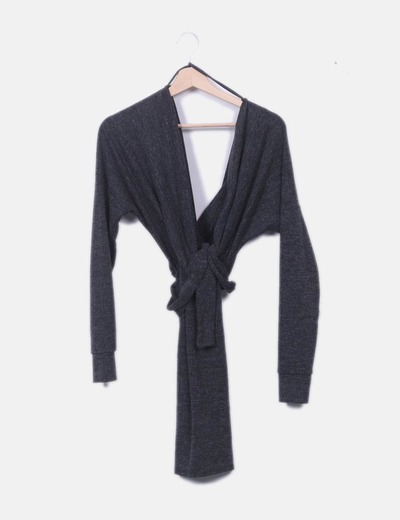 Vestido lana gris