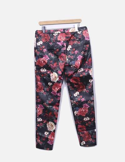 Pantalon recto floral