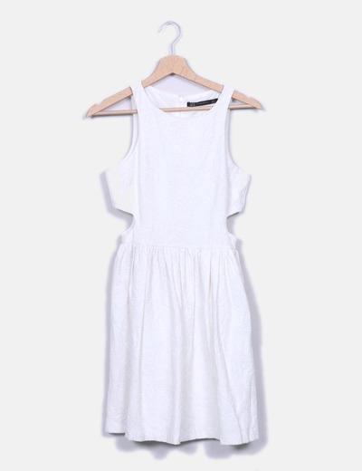 Vestido crudo texturizado