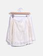 Falda midi de encaje color nude lm
