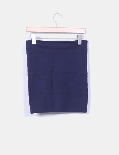 Mini falda azul marino