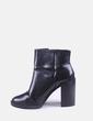Bota de salto de patente preta Zara