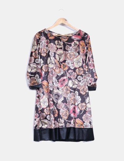 Vestido terciopelo floreado IRIS