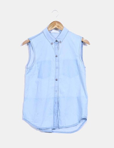 Blusa denim azul claro sin mangas Noisy May