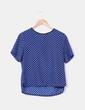 Blusa estampada en tonos azules Lefties