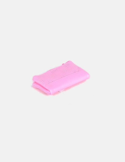 Cartera rosa fluor Bershka