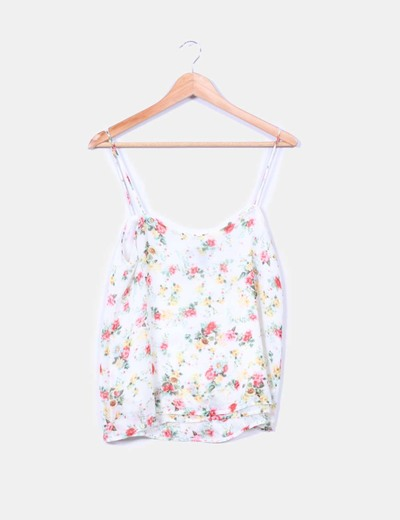 Top estampado floreado de tirantes Mango