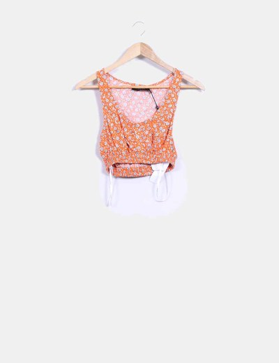 Top crop  naranja estampado MINKPINK