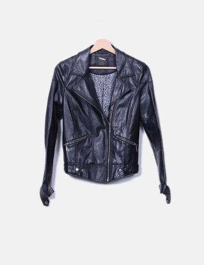 Chaqueta biker negra Zara