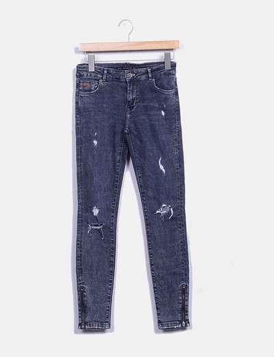 Jeans denim gris ripped