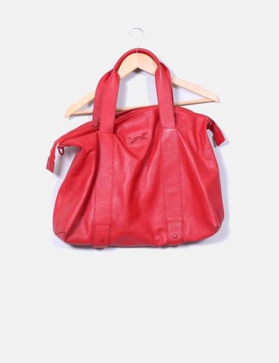 b2e09153c Bimba&Lola Maxi bolso rojo de piel (descuento 74%) - Micolet