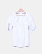 Blusa blanca con topos NoName