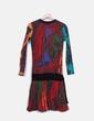 Vestido estampado multicolor detalle lazo Desigual