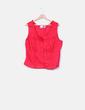 Blusa roja ribetes guipur H & J
