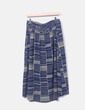 Falda azul fluida estampada NoName