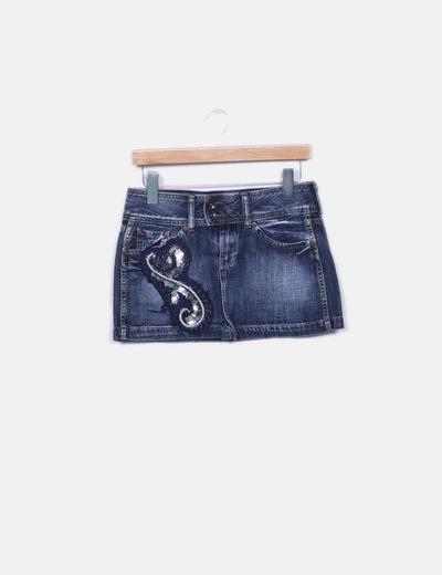 Mini  saia  cowgirl Pepe Jeans