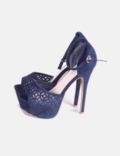 83 Marino Tacóndescuento Hf De Azul Shoes Encaje Con Sandalia hrtQds