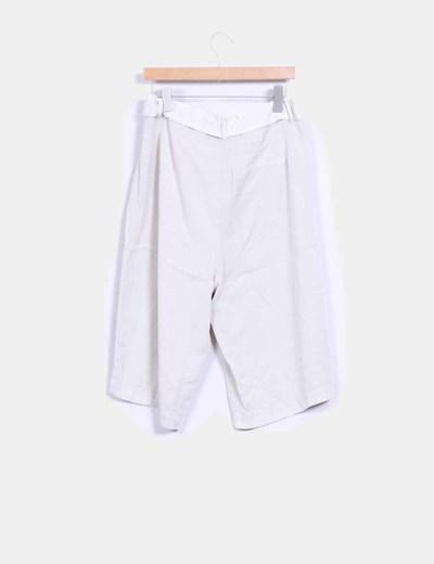 Pantalon culotte beige