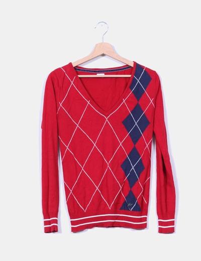 Jersey rojo de rombo  NoName