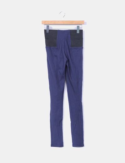 Leggins azul marino con cinturilla negra