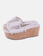 Clogs beige canvas Mango