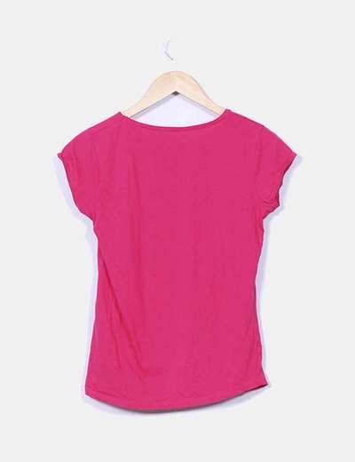 Camiseta basica color fucsia