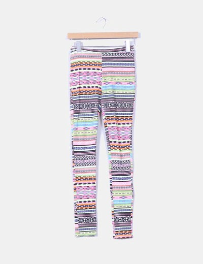 Leggings multicolor estampado Bershka
