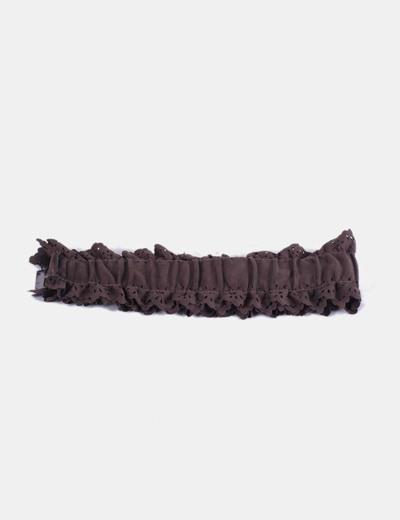 Cinturón marrón fruncido NoName