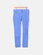 Jeans azules cremalleras en tobillos Bershka