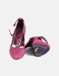 Chaussure à talon couleur bordeau Mango