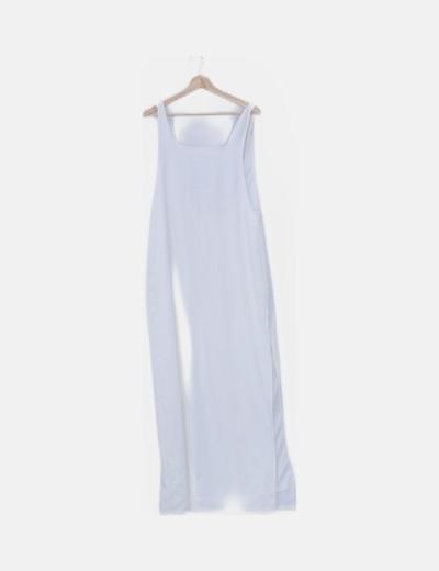 Maxi vestido blanco fluido de tirantes