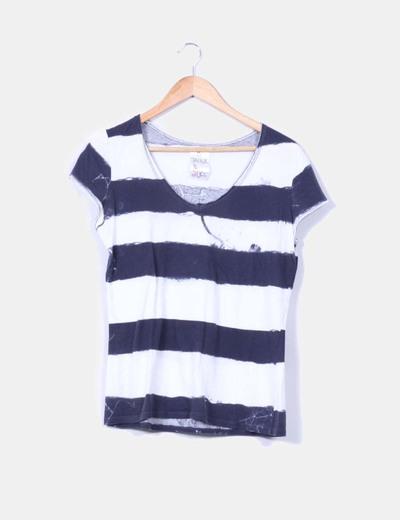 Camisa manga corta efecto desteñido Zara