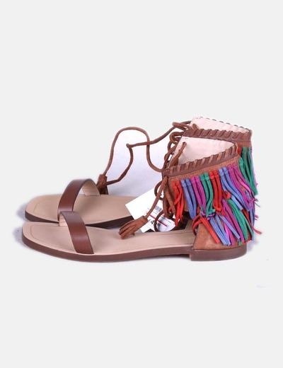 Sandalia Colores Flecos De De Sandalia Con Flecos De Sandalia Flecos Con Colores Con D2IE9WH