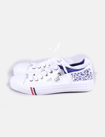 Tecido combinado desportivo branco NoName