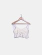 Top crop guipur blanco Zara