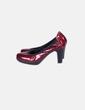 Chaussure couleur bordeau à talon de la en cuir verni NoName