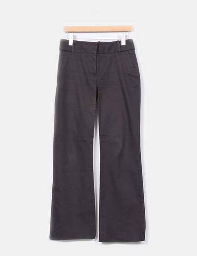 Pantalon pata ancha marron chocolate