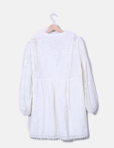 Vestido boho blanco bordado
